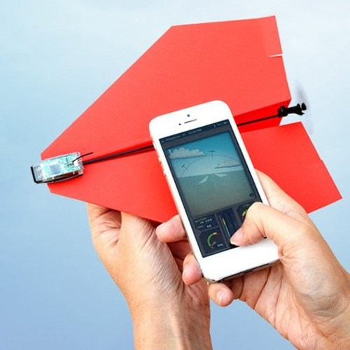 Avion de papel controlado con Smartphone