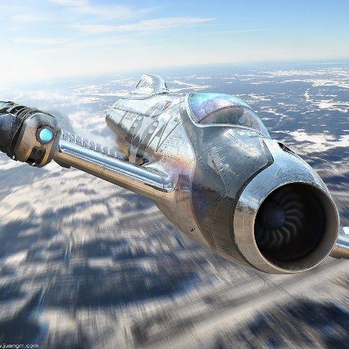 Avion de Combate amelia 7