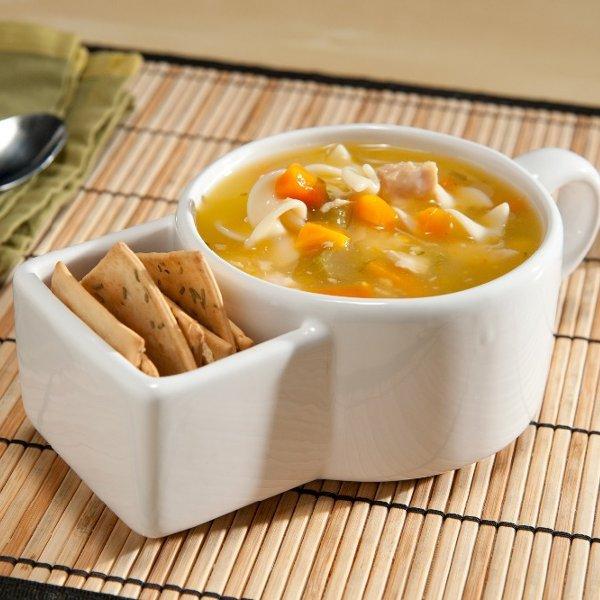 Taza para Sopa con Compartimento