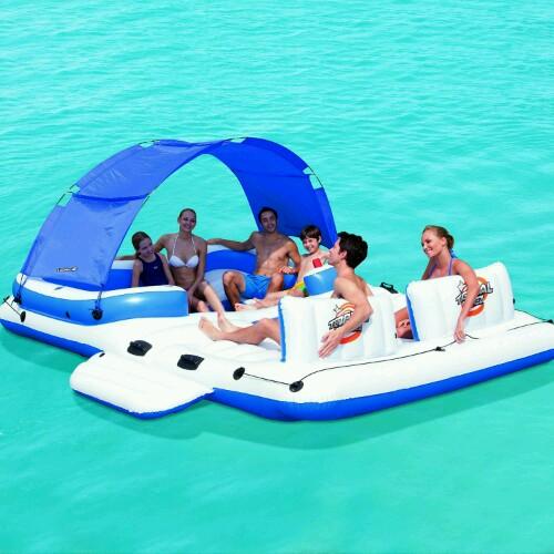 Isla flotante hinchable