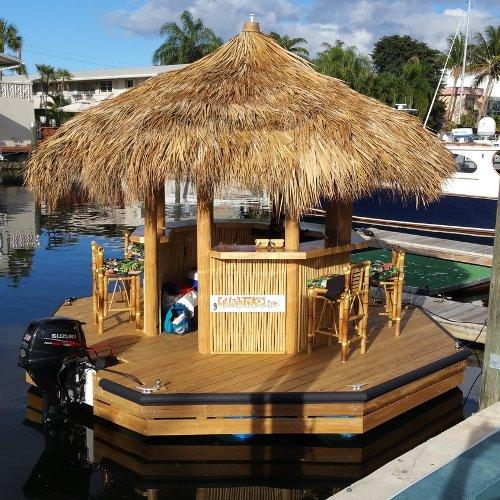 Bar Flotante con forma de Cabaña