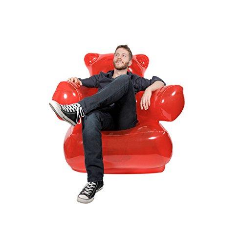 Sofa inflable con forma de osito de gominola